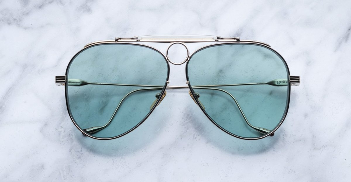 Jacques Marie Mage Gonzo Duke aviator style sunglasses in Altan colorway