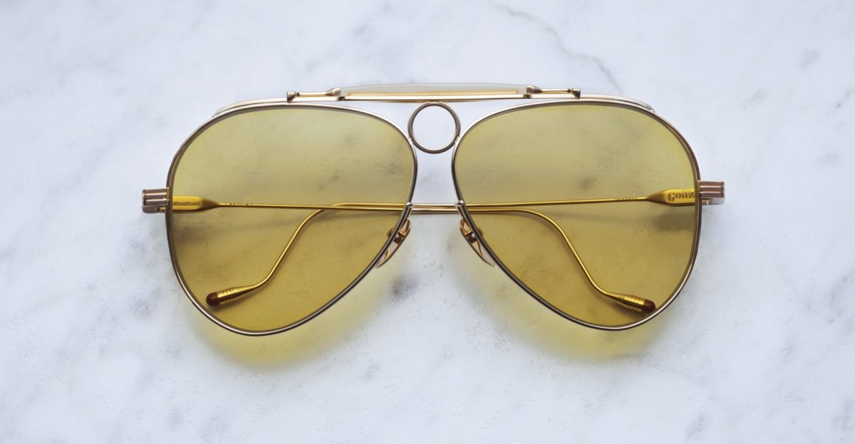 Jacques Marie Mage Gonzo Duke style sunglasses in Gold