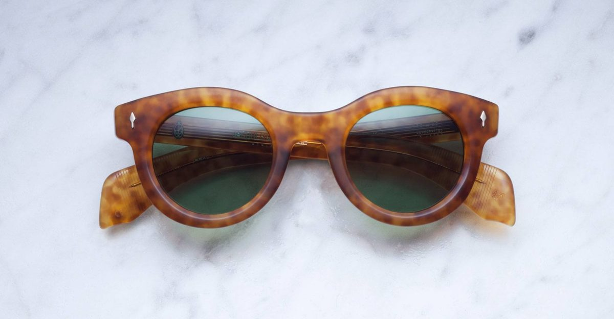 Jacques Marie Mage Hitchcock sunglasses in Camel