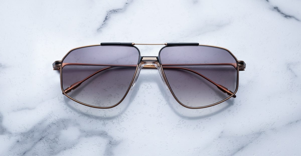 Jacques Marie Mage Jagger style sunglasses in Obsidian colorway
