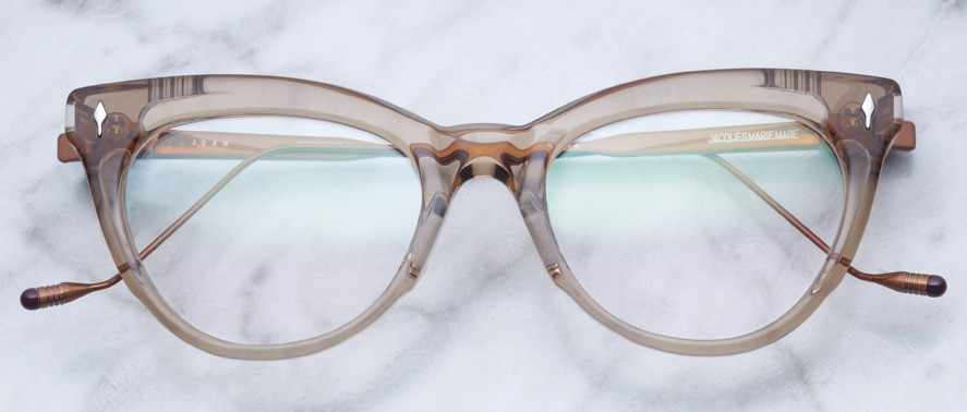Jacques Marie Mage Joan style glasses in colorway Sand
