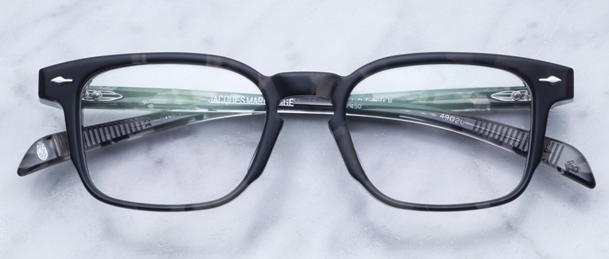 Jacques Marie Mage Marengo style eyeglasses in colorway Midnight