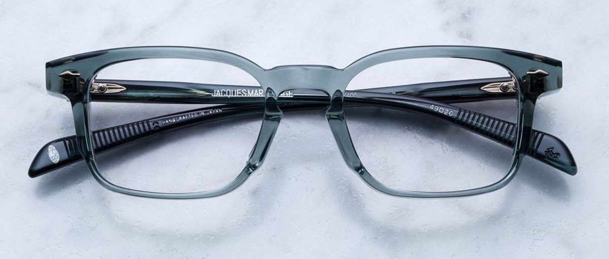 Jacques Marie Mage Marengo style glasses in translucent grey colorway