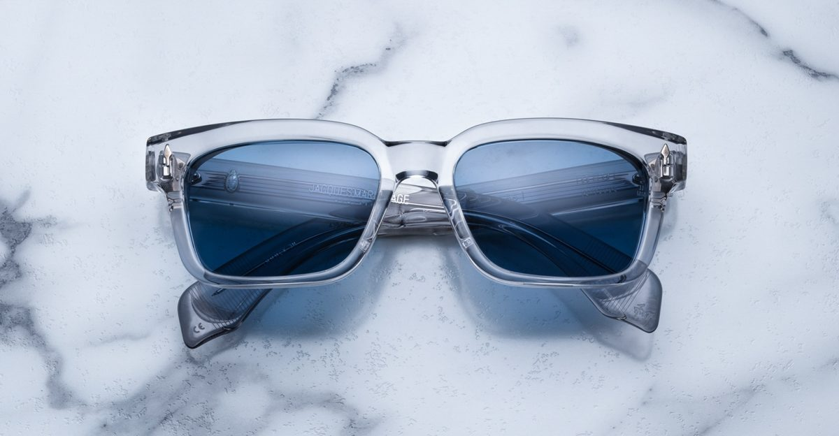 Jacques Marie Mage Molino 55 style sunglasses in colorway Frost