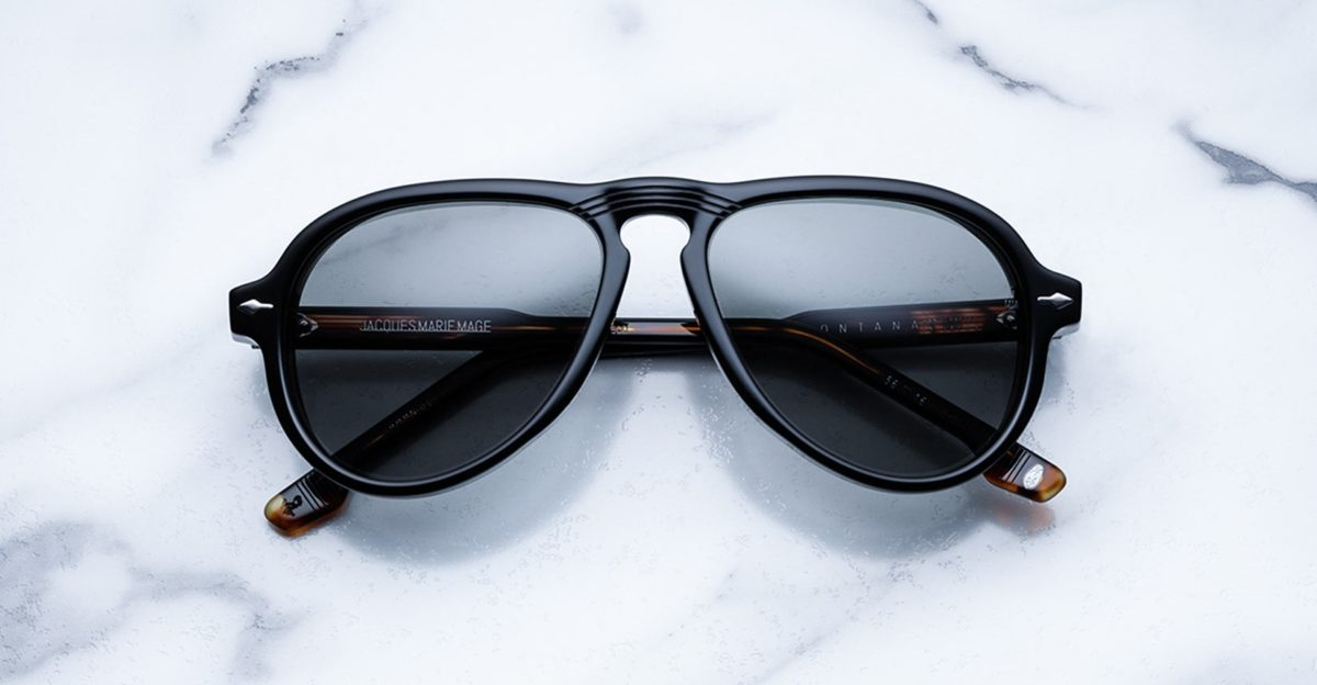 Jacques Marie Mage Montana style sunglasses in black