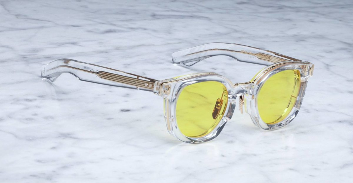 Jacques Marie Mage x White Mountaineering Mont Blanc style sunglasses in clear