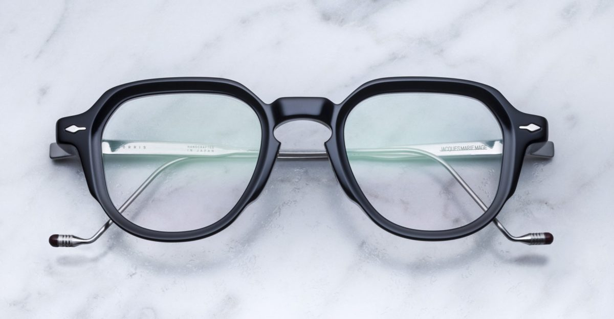 Jacques Marie Mage Morris style eyeglasses in black
