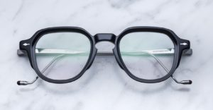 Jacques Marie Mage Morris style eyeglasses in black