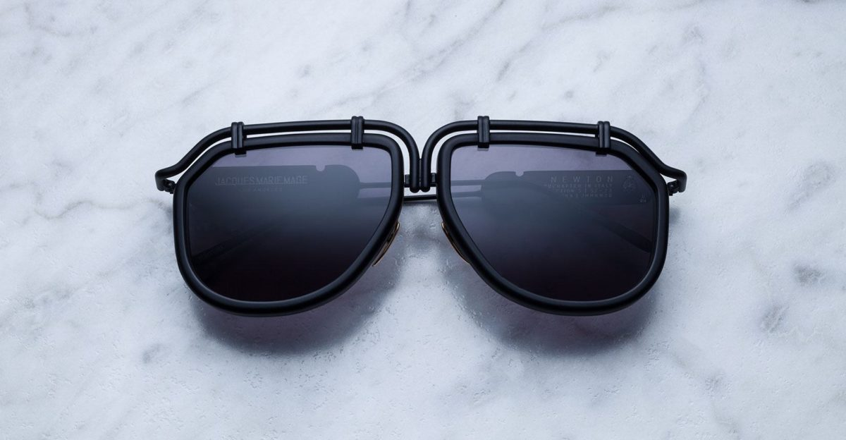 Jacques Marie Mage Newton style sunglasses in colorway Carbon