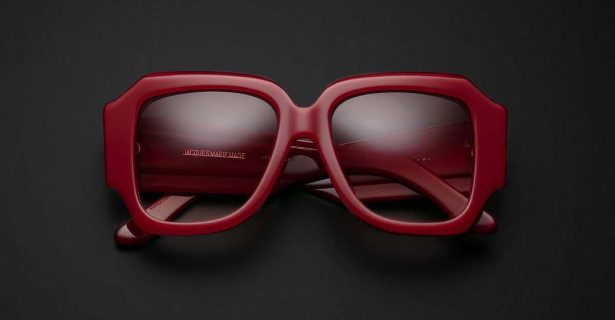 Gloria in color way Le Rouge. A collaboration between Jacques Marie Mage and Olivier Theyskens available at Dan Deutsch