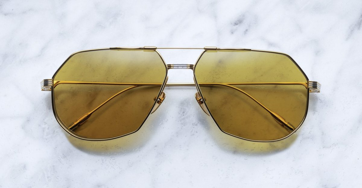 Jacques Marie Mage Reynold sunglasses in gold colorway