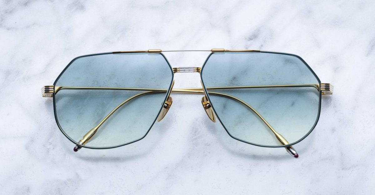 Jacques Marie Mage Reynold style sunglasses in Mandarin colorway