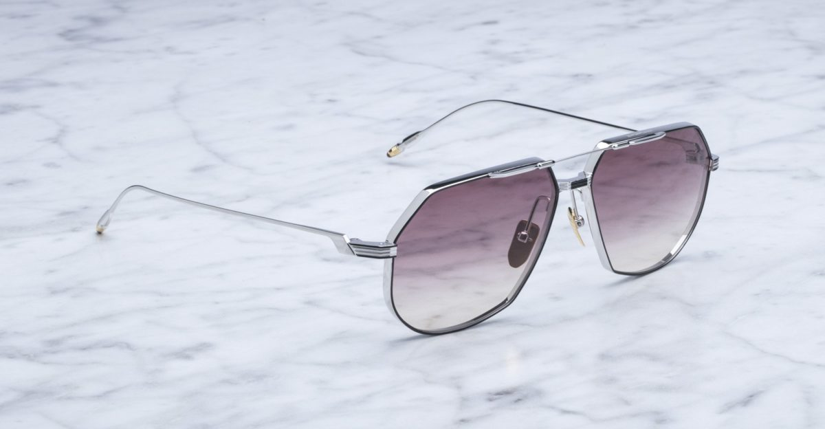 Jacques Marie Mage Reynold Sunglasses in Silver Fox colorway