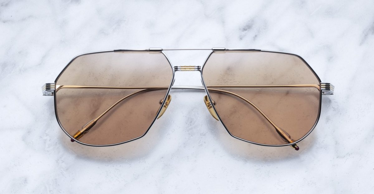 Jacques Marie Mage Reynold style sunglasses in colorway Solar