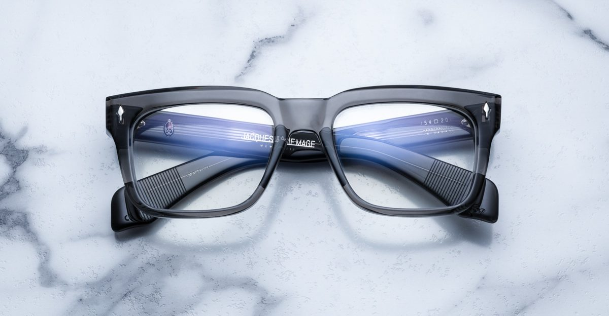 Jacques Marie Mage Torino style eyeglasses in colorway Tempest