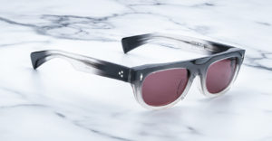 Jacques Marie Mage White Light style sunglasses in Black Fade colorway