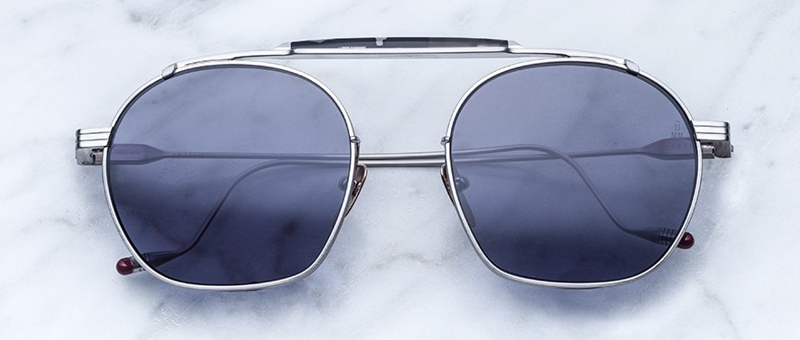 Jacques Marie Mage Victorio style sunglasses in colorway Fog