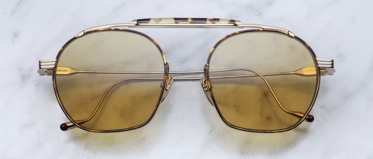 Jacques Marie Mage Victorio style sunglasses in colorway Havana 2