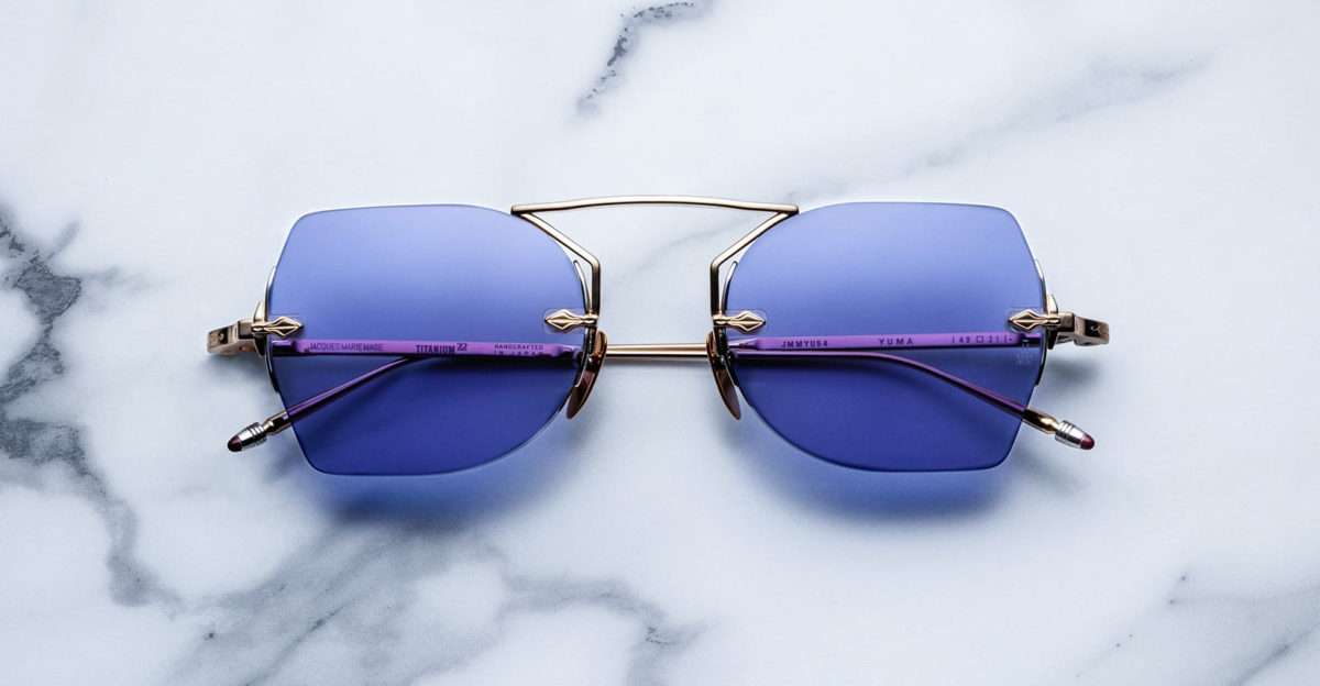 Jacques Marie Mage Yuma rimless sunglasses in colorway Altan