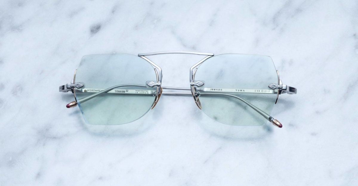 Jacques Marie Mage Yuma rimless sunglasses in Antique colorway