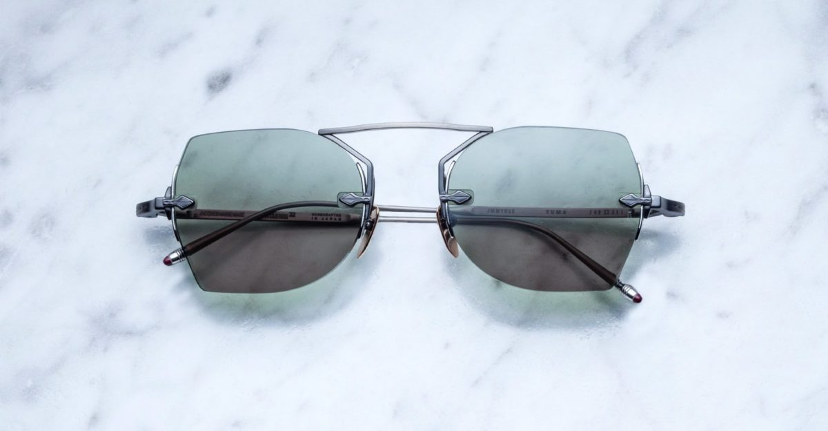 Jacques Marie Mage Yuma rimless sunglasses in Steel colorway