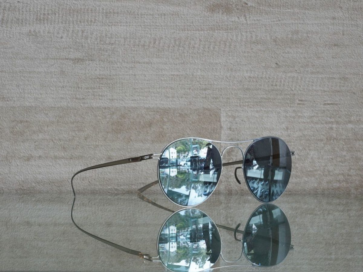 Mykita Maison Margiela Sunglasses MMESSE005 e1 silver silverflash mirror dandeutsch