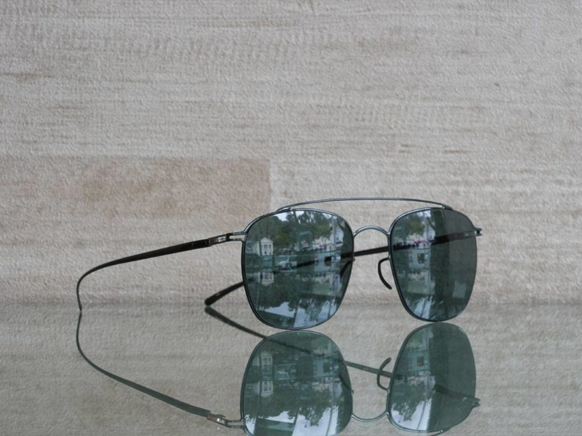 Mykita Maison Margiela Sunglasses MMESSE007 e8 dark green with dark green lenses dandeutsch