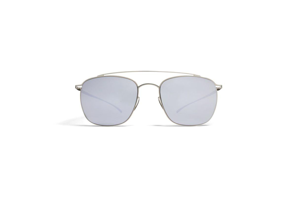 Mykita Maison Margiela Sunglasses mmesse007_e1 silver with silver flash mirror lenses