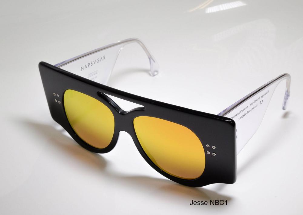 Napsvgar Jesse in Black Clear (NBC1) with Grey Amber Mirror lenses