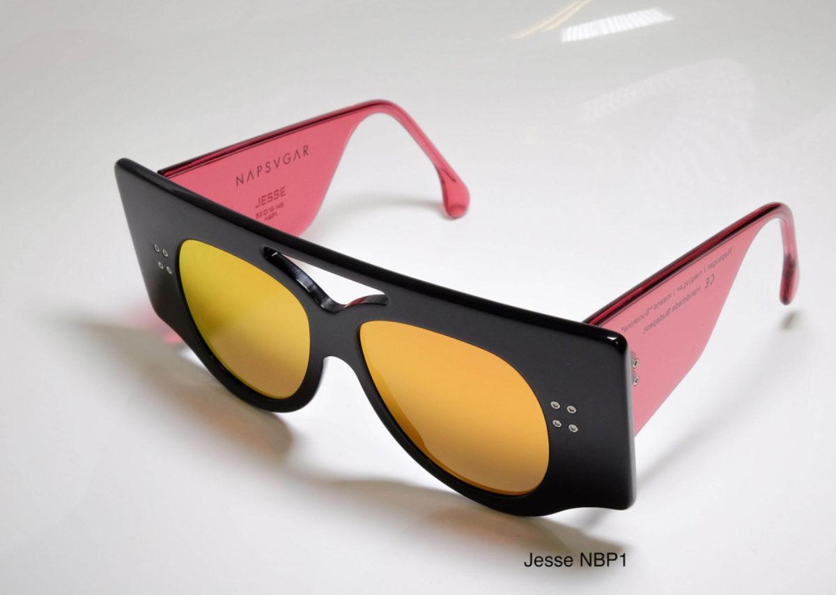 Napsvgar Jesse in Black Pink (NBP1) with Grey Amber Mirror lenses