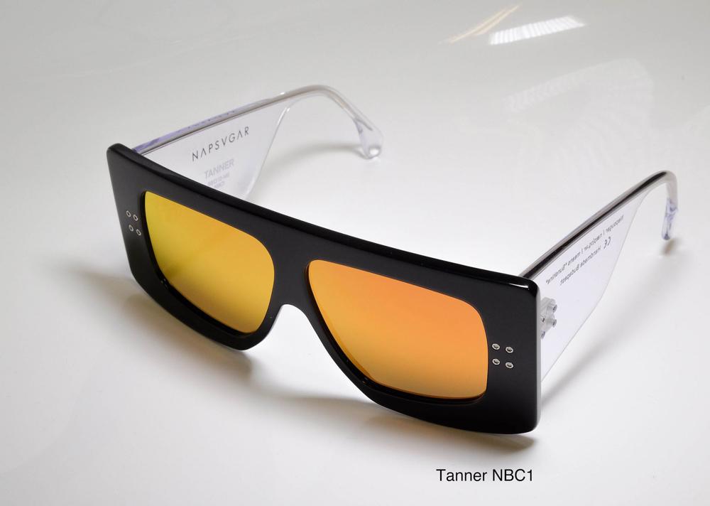 Napsvgar Tanner in Black Clear (NBC1) with Grey Amber Mirror lenses