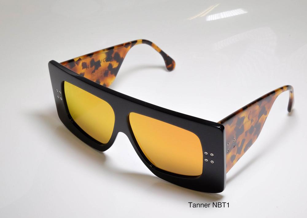 Napsvgar Tanner in Black Tortoise (NBT1) with Grey Amber Mirror lenses