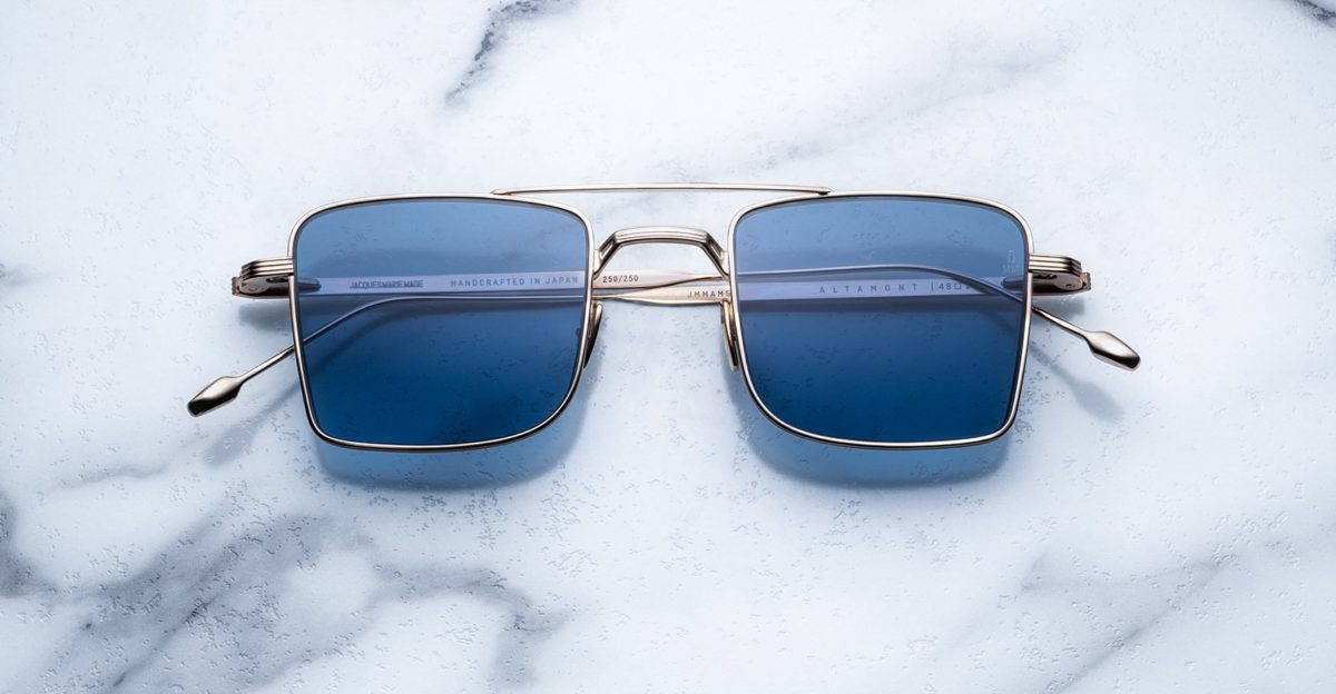 Jacques Marie Mage Altamont style sunglasses in Gold Antique
