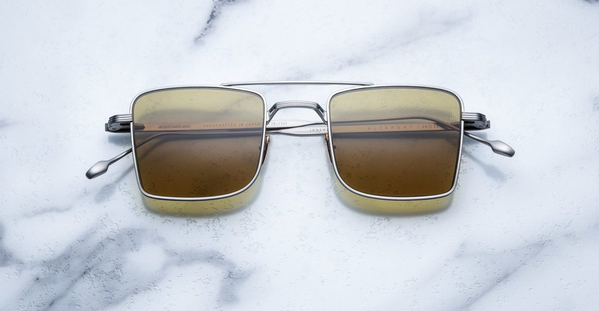 Jacques Marie Mage Altamont style sunglasses in Silver