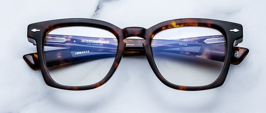 Jacques Marie Mage Arshile eyeglasses in colorway Havana