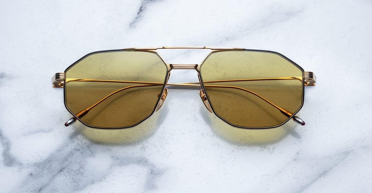 Jacques Marie Mage Bandit style sunglasses in colorway JPS