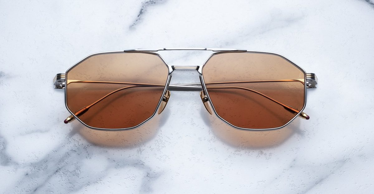 Jacques Marie Mage Bandit style sunglasses in colorway Solar
