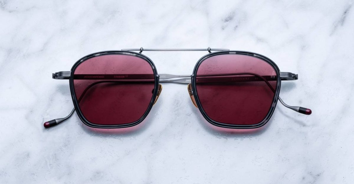 Jacques Marie Mage Baudelaire Style sunglases in colorway Flint