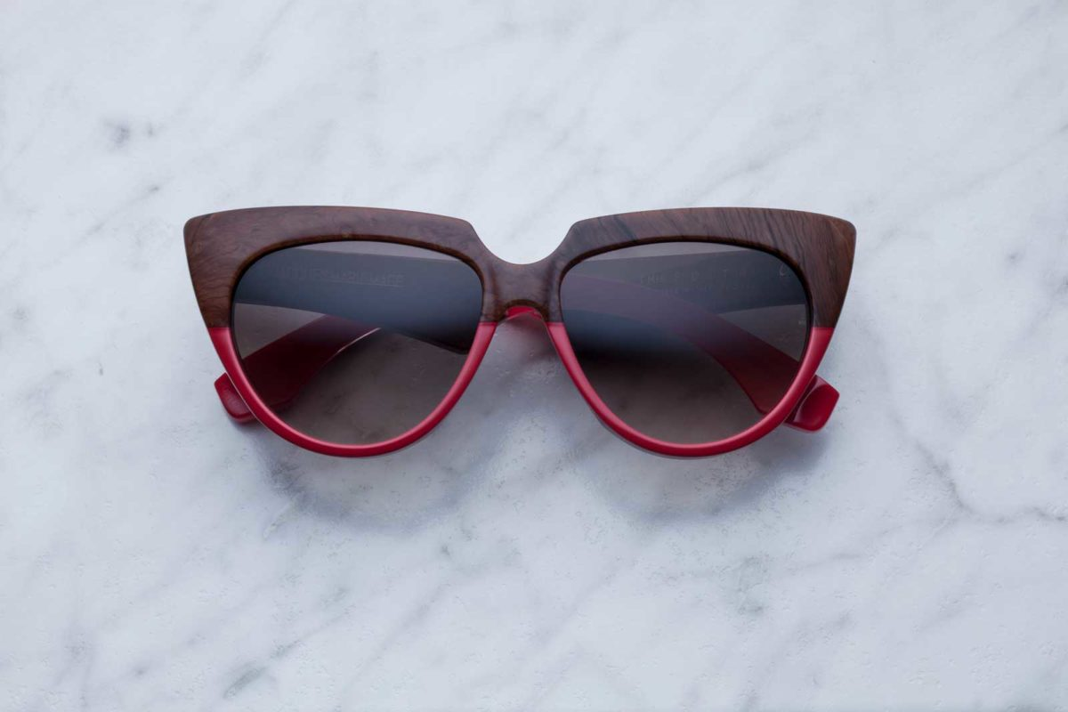 Jacques Marie Mage Edith style sunglasses in colorway Burlwood