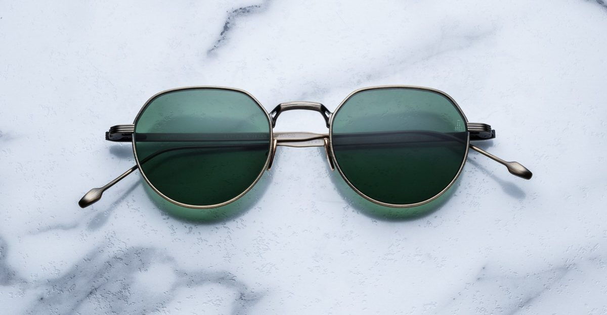 Jacques Marie Mage Fontana style sunglasses in colorway Gold Antique