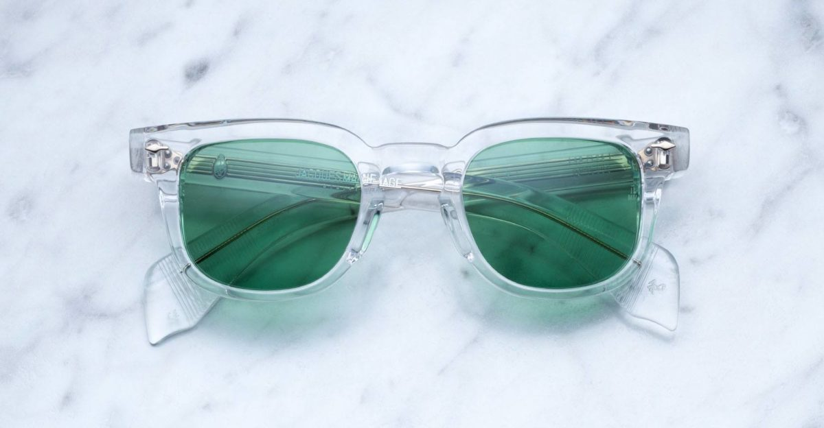 Jacques Marie Mage Jax style sunglasses in Clear