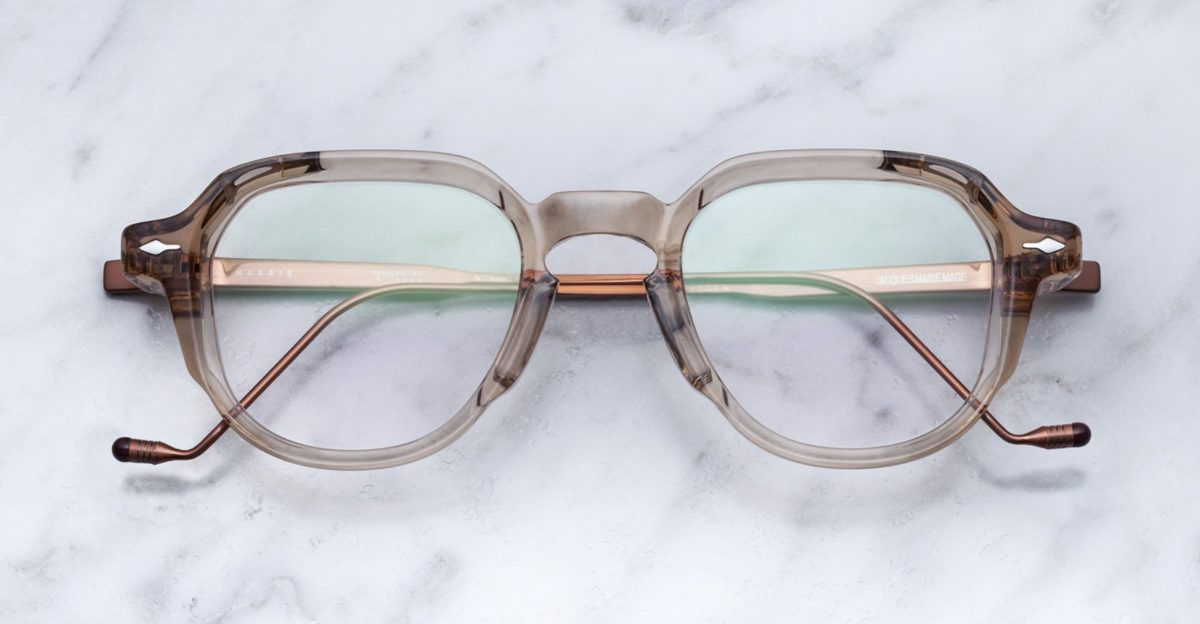 Jacques Marie Mage Moris style eyeglasses in colorway Sand