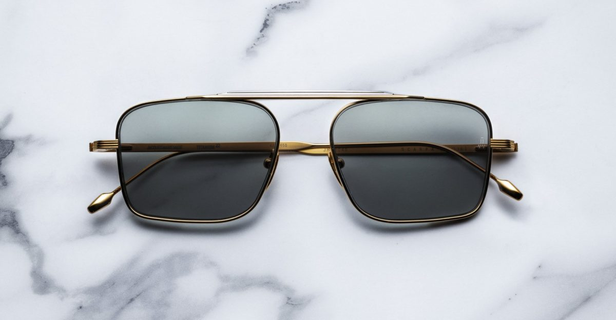 Jacques Marie Mage Scarpa Sunglasses in Gold