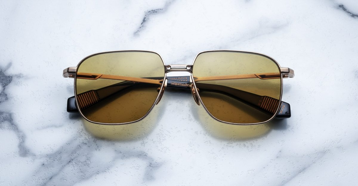 Jacques Marie Mage Sexton style sunglasses in Gold