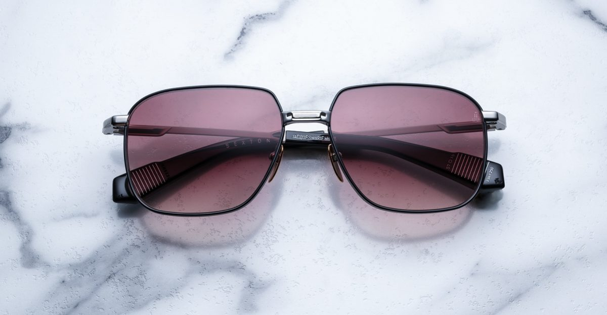 Jacques Marie Mage Sexton style sunglasses in colorway Silverfox