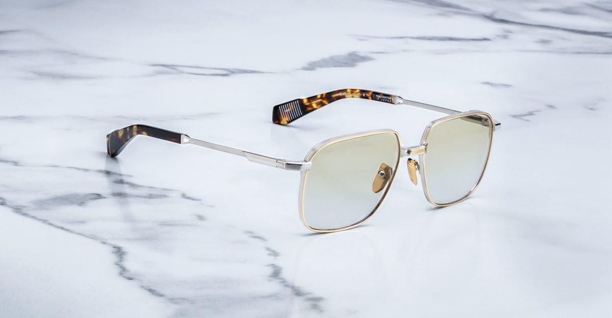 Jacques Marie Mage Sexton style sunglasses in colorway Solar