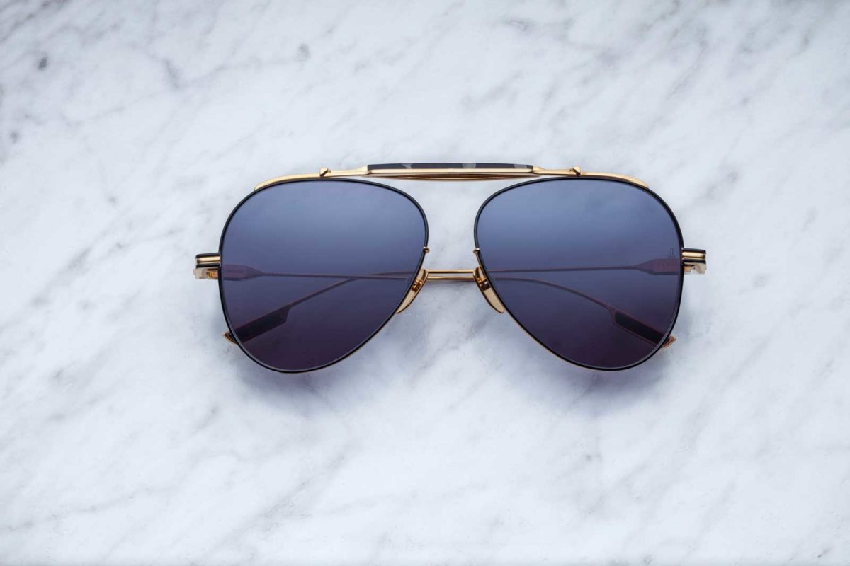 Jacques Marie Mage Cochise aviator style sunglasses in colorway JPS