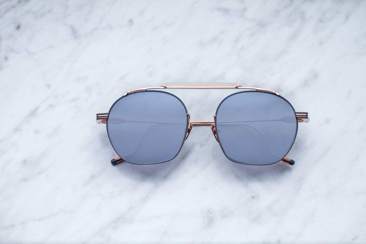 Jacques Marie Mage Victorio style sunglasses in colorway Alchimist