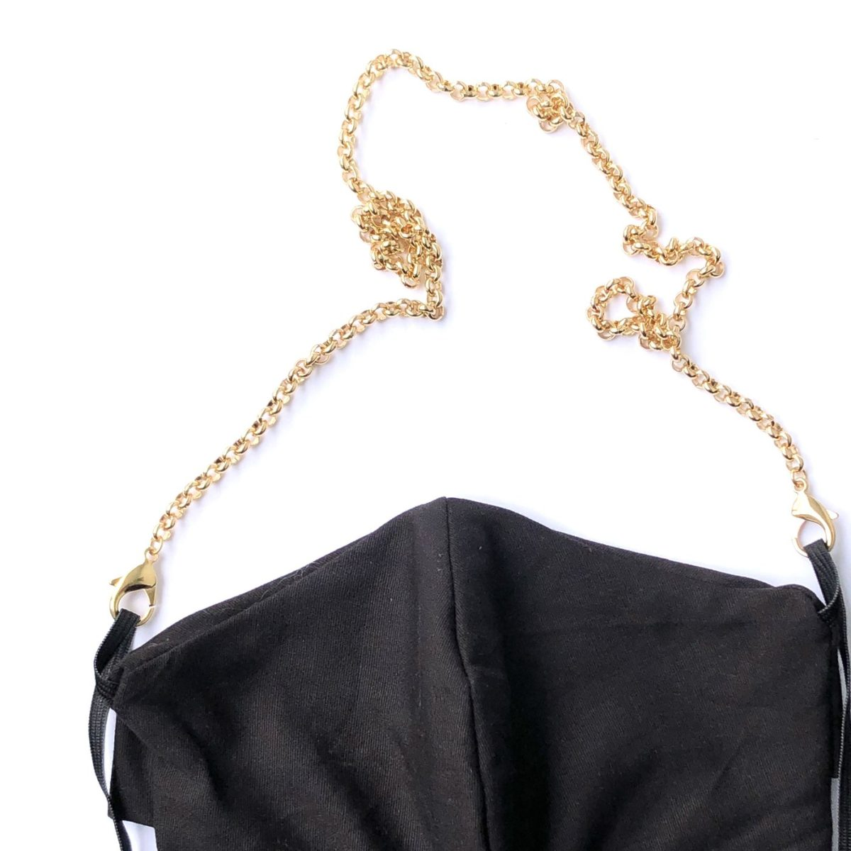 La Mask by Laloop Gold Plated Rolo Chain Necklace Chain for Facemasks