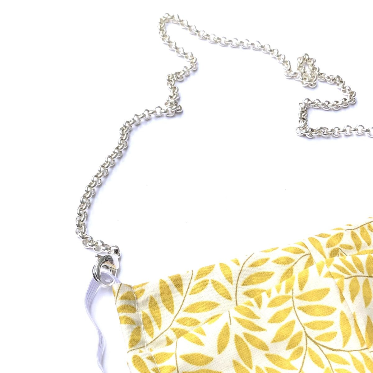 La Mask by Laloop Silver Plated Rolo Chain Necklace Chain for Facemasks